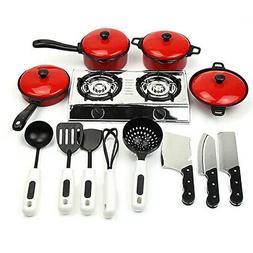 13Pcs/Set Kids Toy Play House Kitchen Utensils Cooking Pots