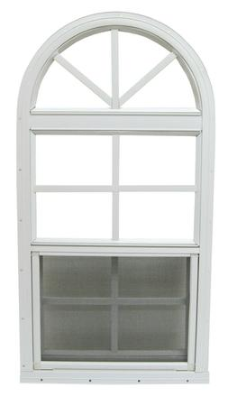 14 x 28 Shed Window Arched Top Play House Window White Tempe