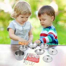 16 Pcs Set Kids Play House Kitchen Toys Cookware Cooking Ute