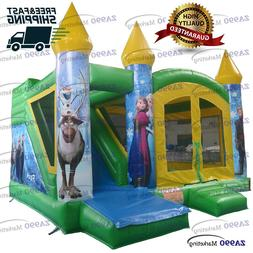 16x13ft Inflatable Frozen Jumping Bounce House Castle Fun Sl