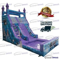 23x11.5ft Commercial Inflatable Frozen Bounce Slide & Pool W
