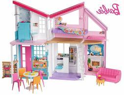 Barbie Malibu Playhouse Dollhouse 25 PC Furniture Set Kids D