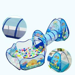 3-In-1 Children Baby Kids Ball Play Tent Tunnel Play House I