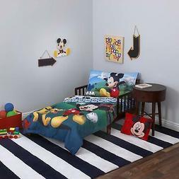 Disney 3 Piece Toddler Bedding Set, Mickey Mouse Playhouse -
