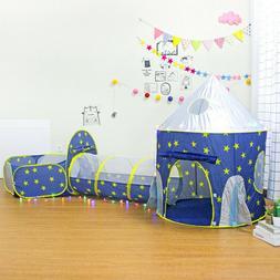 3pc Kids Play Tent Pop Up Playhouse Crawl Tunnel Ball Pit Se