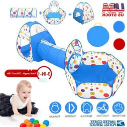 3pcs Kids Play Tent and crawl Tunnel Child Pop up Crawl Play