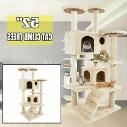 """52"""" Cat Tree Tower Condo Furniture Scratching Scratch Pet Ki"""
