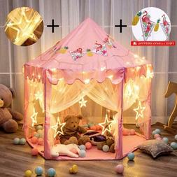"""Twinkle Star 55""""X 53"""" Princess Castle Play Tent For Girls Pl"""