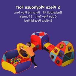 Playz 5pc Kids Playhouse Jungle Gym Ball PitSafest CPSCBaby