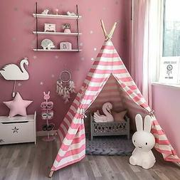 6' Indian Play Tent Teepee Kids Playhouse Sleeping Dome Port
