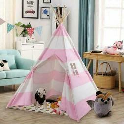 6' Indian Play Tent Teepee Kids Playhouse Sleeping Dome Port