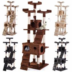 """67"""" Cat Tree Tower Condo Furniture Scratching Post Pet Kitty"""