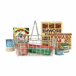Melissa & Doug Grocery Basket - Pretend Play Toy With Heavy