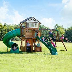 Backyard Discovery Cedar Swing Set Playset Playground Wood