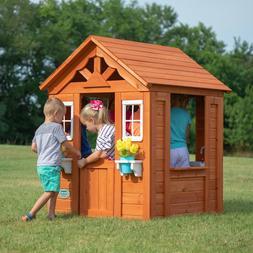 Backyard Discovery Timberlake Cedar Wooden Playhouse Kids To