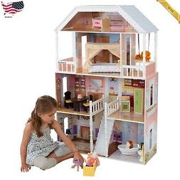 Barbie Size Wooden Dollhouse Furniture Doll Girls Playhouse