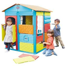Tikes Build-a-House Kid's Indoor/Outdoor Play House Children