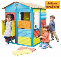 Build-a-House Little Tikes Kids Playhouse Toy Children Playi