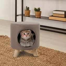 Cat Condo Pet Kitty Play House Supplies Tree Cave Shape Post