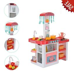 Children's Kitchen Playset With Light And Sound Kids Play Ho