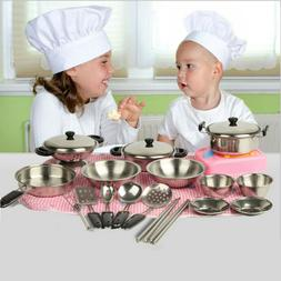 Children's Stainless Steel Kitchen Play House Toy Set Cookwa