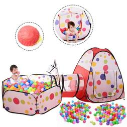 Childrens Plastic ball pool with crawling tunnel play House
