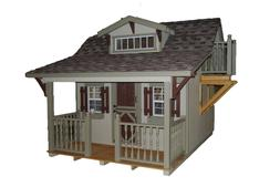 Little Cottage Company Craftsman 11x10 Playhouse with Slide