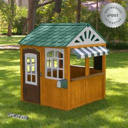 Deluxe Playhouse Outdoor Solid Cedar Wood Kids House Large G