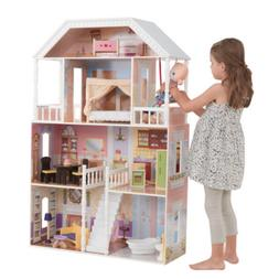 Dollhouse Playhouse Wooden Furniture Doll Girls Barbie Size
