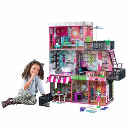 Dream House Size Dollhouse Furniture Girls Playhouse Play Fu