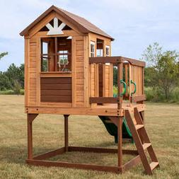 Backyard Discovery Echo Heights Wooden Playhouse