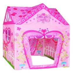 Flower Princess Castle Girls Pink Palace Play Tent Kids Pret