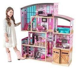 Barbie Size Dollhouse Furniture Girl Playhouse Dream Play Wo