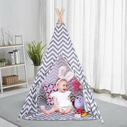 Girl Boy Teepee Cute Play House Children Kid Play Tent Indoo