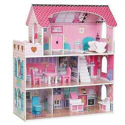 Girls Dream Wooden Pretend Play House Kids Doll Dollhouse Ma