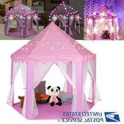 girls pink princess castle cute playhouse children