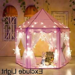 Indoor/Outdoor Princess Castle Play House Kids Toy Play Tent