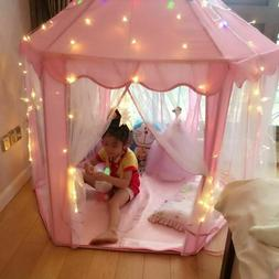 Girls Pink Princess Castle Cute Playhouse for Children Kid P