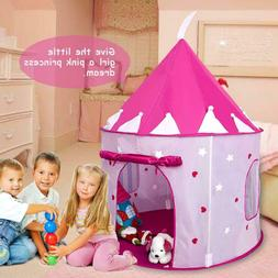 Girls Princess Castle Play Tent w/ Glow in The Dark Stars Pl