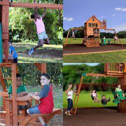 Glider Kit Wooden Swing Set for Kids Outdoor Backyard Cedar