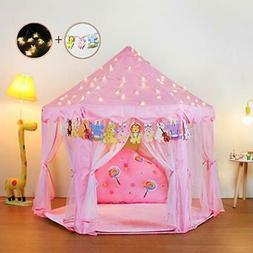 Yoobe Hexagon Princess Castle Play Tent Indoor Kids Gift 23f