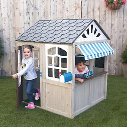 Hillcrest Wooden Outdoor Playhouse by KidKraft