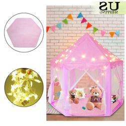 In/Outdoor Children Kids Girls Princess Castle Play Tent Pla