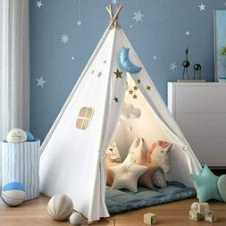 Indian Teepee Play Tent for Kids with Carry Case Natural Cot