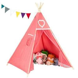 Indoor Outdoor Classic Playhouse Cotton Canvas Play Teepee T