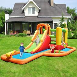 Inflatable Outdoor Water Park Pool Slide Splash Bounce Play