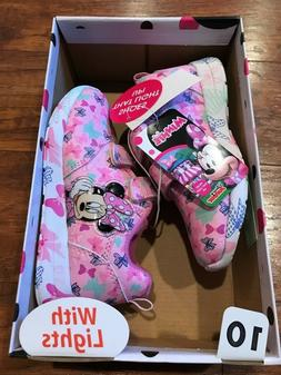 Disney Junior Minnie Mouse girls toddler light up shoes Mick