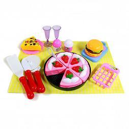 Kidfun Pretend Play Kitchen Playhouse Dessert Chef Pink Toy