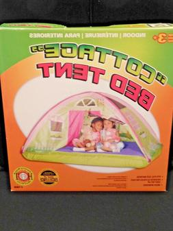 kids cottage bed tent playhouse full size