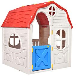 kids cottage play house foldable portable plastic